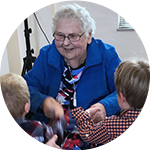 Woman Talking to kids